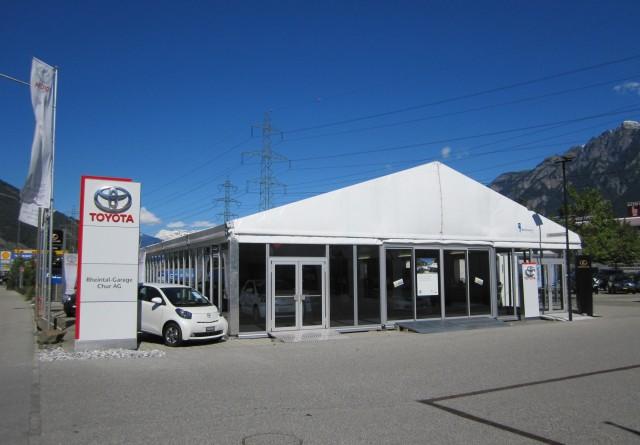 Temporäres Autohaus Chur